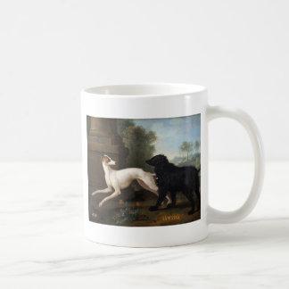ジーンBaptiste Oudry著若い女性そしてLuttine コーヒーマグカップ