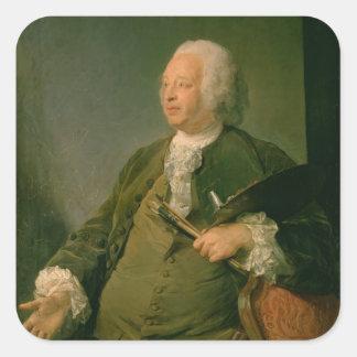 ジーンBaptiste Oudry (1686-1755年の) c.1753のポートレート スクエアシール