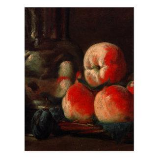 ジーンBaptiste Simeon Chardin -錫が付いている静物画 ポストカード