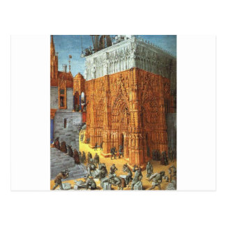 ジーンFouque著エルサレムの寺院の建物 ポストカード