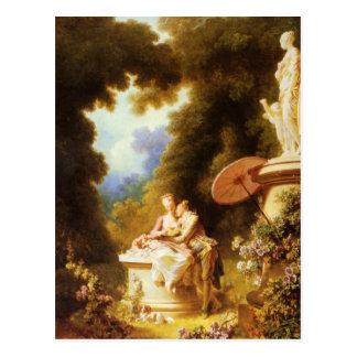 ジーンHonoré Fragonardのファインアート はがき