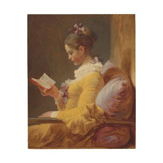 ジーンHonore Fragonardの若い女の子の読書ファインアート ウッドウォールアート