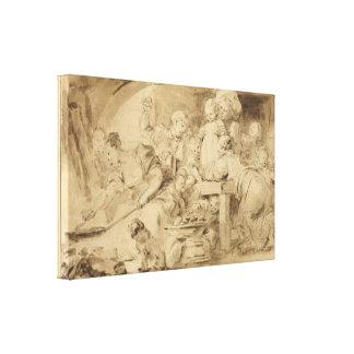 ジーンHonore Fragonard著パンケーキメーカー キャンバスプリント
