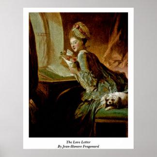 ジーンHonore Fragonard著ラブレター ポスター