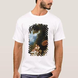 ジーンHonore Fragonard著ラブレター Tシャツ