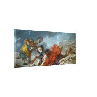 ジーンHonore Fragonard著冬 キャンバスプリント
