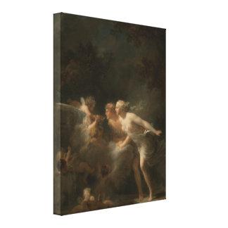 ジーンHonore Fragonard著愛の噴水 キャンバスプリント