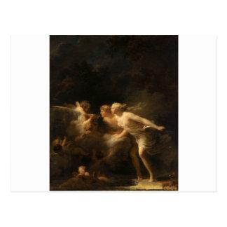 ジーンHonore Fragonard著愛の噴水 ポストカード