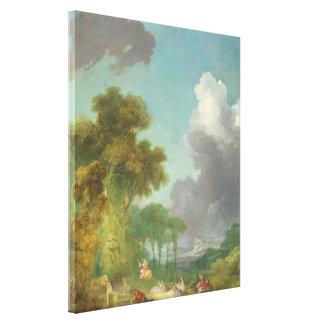 ジーンHonore Fragonard著振動 キャンバスプリント