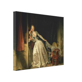 ジーンHonore Fragonard著盗まれたキス キャンバスプリント