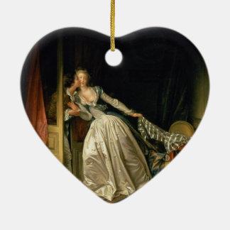ジーンHonoré Fragonard著盗まれたキス セラミックオーナメント