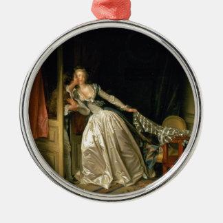 ジーンHonoré Fragonard著盗まれたキス メタルオーナメント