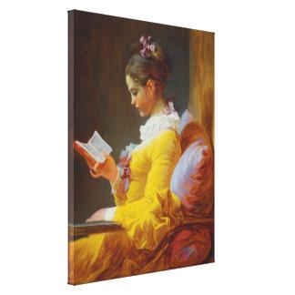 ジーンHonore Fragonard著若い女の子の読書 キャンバスプリント