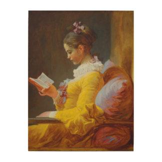 ジーンHonore Fragonard著読者 ウッドウォールアート