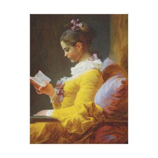 ジーンHonore Fragonard著読者 キャンバスプリント