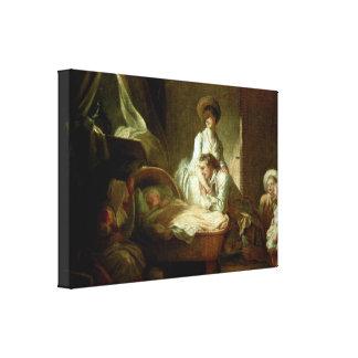 ジーンHonore Fragonard -ストーブの… キャンバスプリント