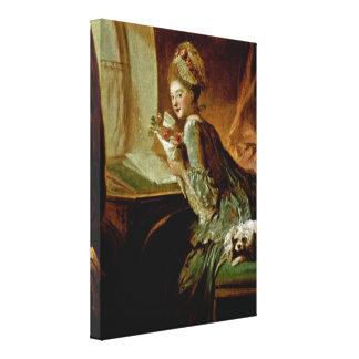ジーンHonore Fragonard -ラブレター キャンバスプリント