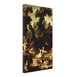 ジーンHonore Fragonard -迫害 キャンバスプリント