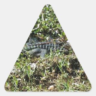 ジーンLafitteの終わりのルイジアナの泥地のわに 三角形シール