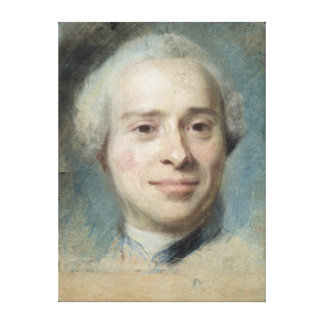 ジーンLe Rondのd'Alembert 1753年のポートレート キャンバスプリント