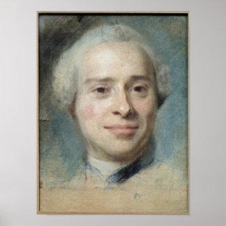 ジーンLe Rondのd'Alembert 1753年のポートレート ポスター