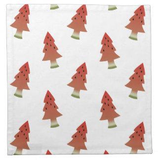 スイカのクリスマスツリーの布のナプキン ナプキンクロス