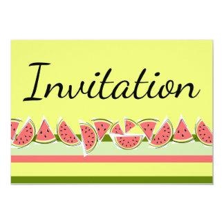 スイカのストライプでクラシックな招待状 カード