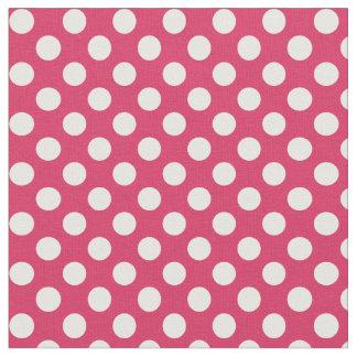 スイカのピンクの水玉模様の生地 ファブリック