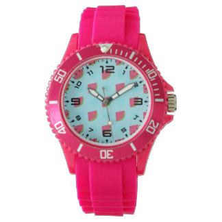 スイカのプリント 腕時計