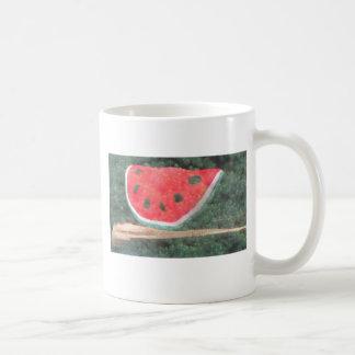 スイカのホログラム コーヒーマグカップ