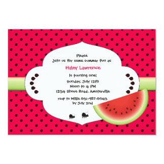スイカの切れの招待状 カード