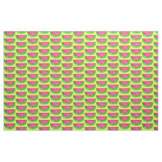 スイカの切れの水彩画のフルーツのポップアート ファブリック
