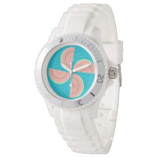 スイカの切れの風車およびBohoの種の一見 腕時計