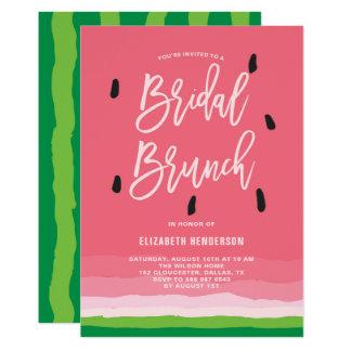 スイカの勾配のモダンな花嫁のブランチ カード