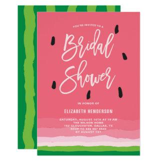 スイカの勾配のモダンのブライダルシャワー カード