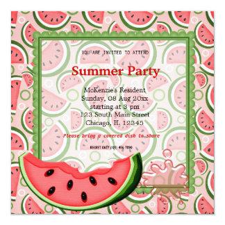 スイカの夏のパーティー カード