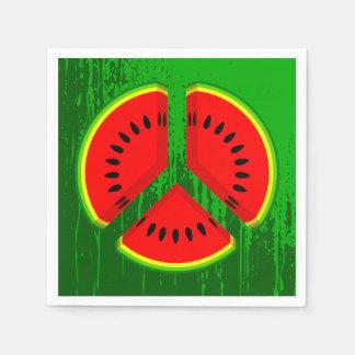 スイカの平和鮮やかな色 スタンダードカクテルナプキン