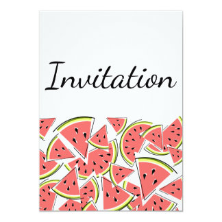 スイカの招待の垂直 カード