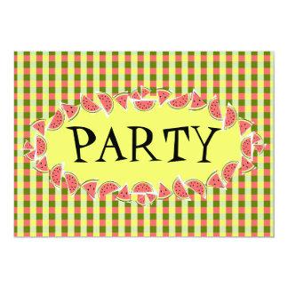 スイカの点検のパーティの招待状 カード