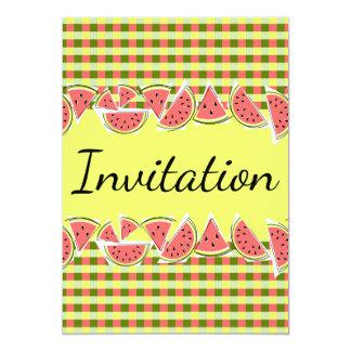 スイカの点検の招待状の垂直 カード