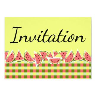 スイカの点検の招待状 カード