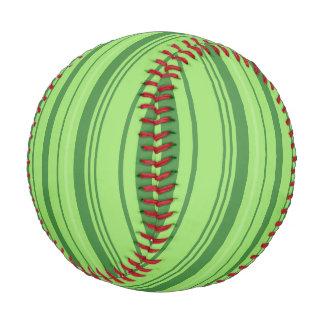 スイカの皮の緑のデザイン ベースボール
