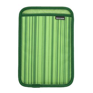 スイカの皮の縦ストライプの緑 iPad MINI インナーケース