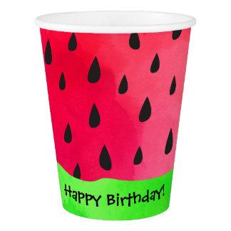 スイカの種の皮のフルーツの誕生日の紙コップ 紙コップ