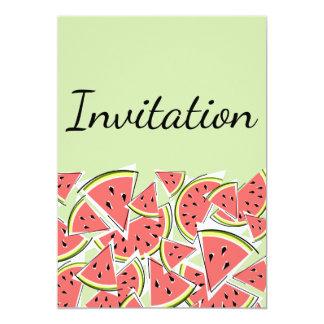 スイカの緑の招待の垂直 カード