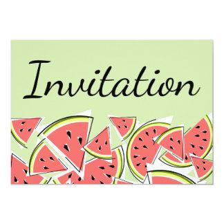 スイカの緑の招待状 カード