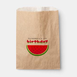 スイカの誕生日のピクニックパーティー フェイバーバッグ
