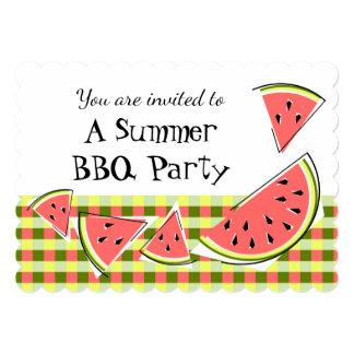 スイカの部分の夏BBQの点検 カード