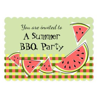 スイカの部分の緑の夏BBQの点検 カード