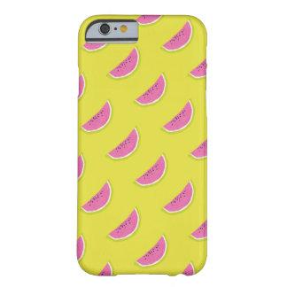 スイカの電話箱の黄色およびピンク BARELY THERE iPhone 6 ケース